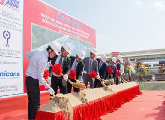 """SSSC'S COMMENCEMENT OF THE PROJECT """"CONSTRUCTION OF CGL WITH CAPACITY 150,000 TPY AT NHON TRACH"""""""